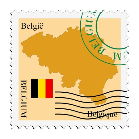mail tofrom Belgium Vector