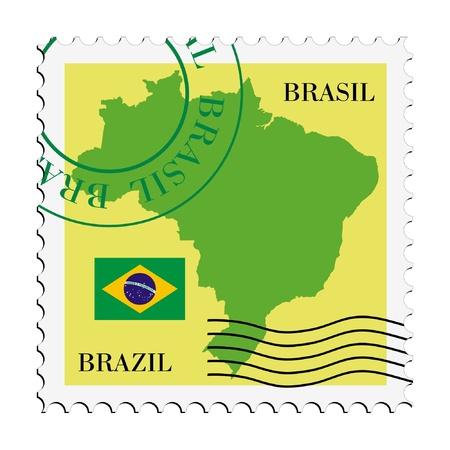 mail tofrom Brazil Illustration