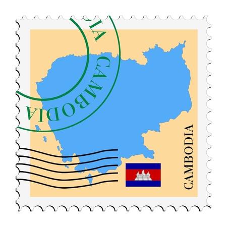cambodia: mail tofrom Cambodia Illustration