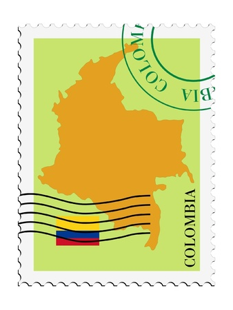 mail tofrom Colombia Vector