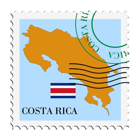 mail to/from Costa Rica Stock Vector - 11898128