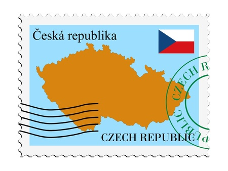 mail tofrom Czech Republic Vector