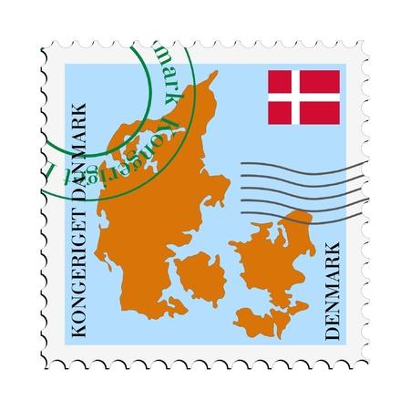 mail tofrom Denmark Illustration