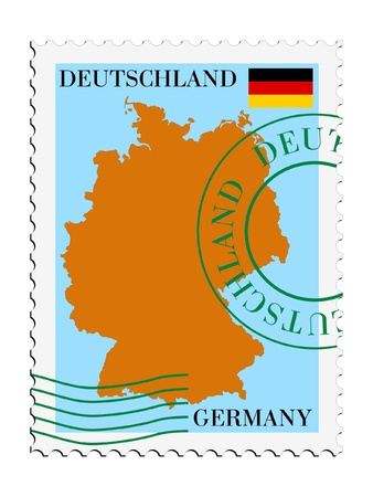 mail tofrom Germany Vector