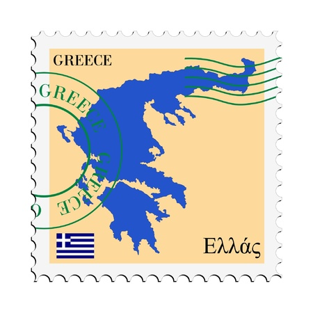 mail tofrom Greece Vector