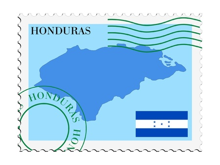 mail tofrom Honduras Vector