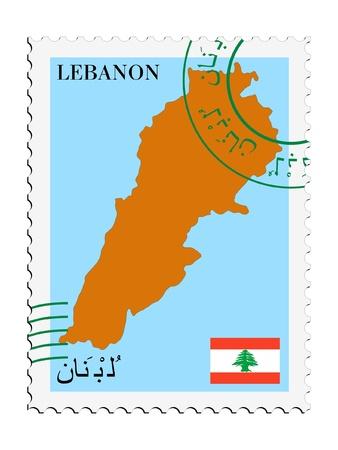 lebanon: mail tofrom Lebanon Illustration