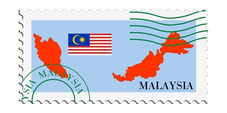 mail tofrom Malaysia Vector