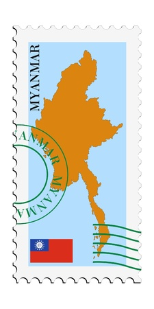 mail to/from Myanmar Stock Vector - 11898123