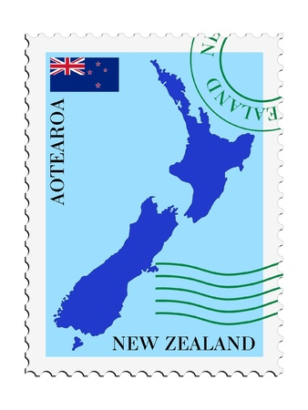 mail to/from New Zealand Stock Vector - 11898132