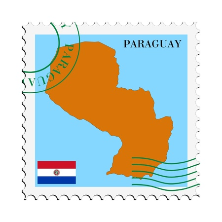 mail to/from Paraguay Stock Vector - 11898115