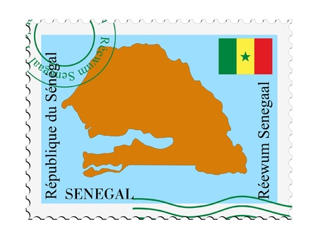 mail tofrom Senegal Illustration