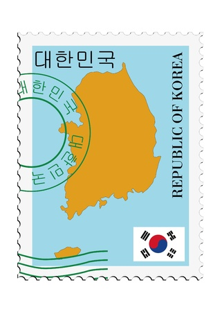 mail tofrom South Korea Illustration