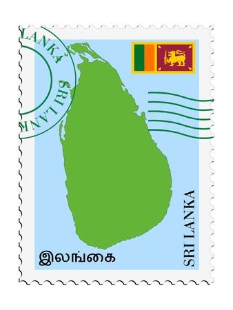 lanka: mail tofrom Sri Lanka Illustration
