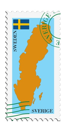 mail tofrom Sweden Vector