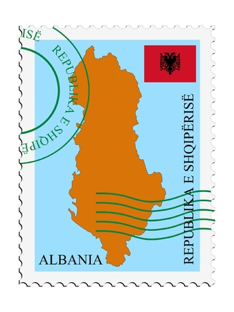 albanie: mail �  en provenance d'Albanie Illustration