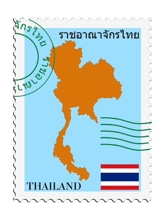 mail to/from Thailand Vector