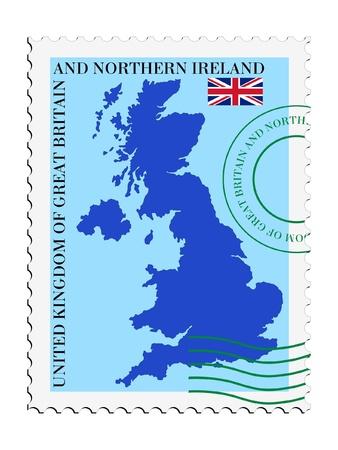 mail tofrom United Kingdom Иллюстрация