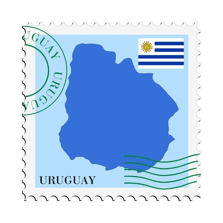 mail to/from Uruguay Stock Vector - 11899267