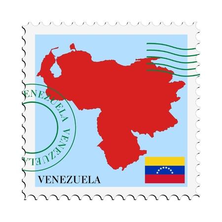 mapa de venezuela: correo hacia  desde Venezuela