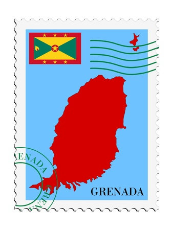 mail tofrom Grenada Vector