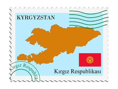 kyrgyzstan: mail tofrom Kyrgyzstan Illustration