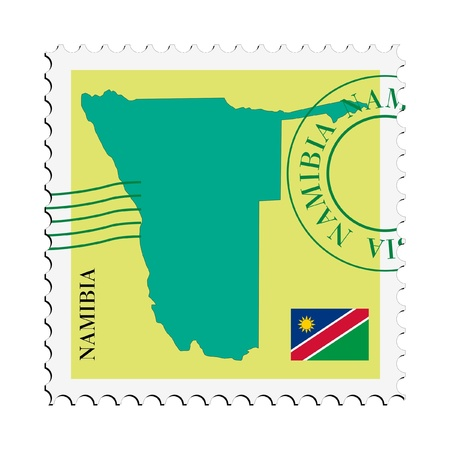 mail tofrom Namibia Vector