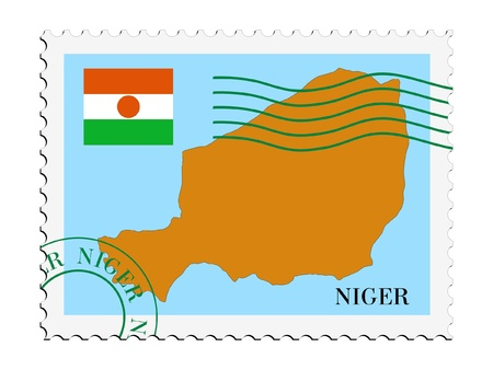mail to/from Niger Stock Vector - 11899413