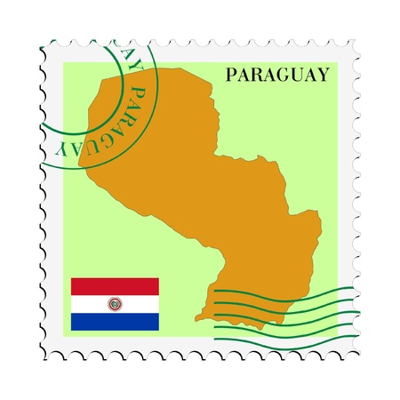 mail to/from Paraguay Stock Vector - 11898141