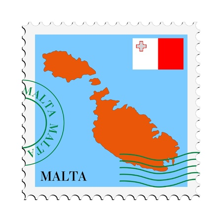mail to/from Malta Stock Vector - 11899420