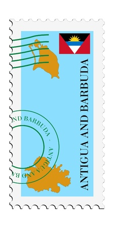 barbuda: mail tofrom Antigua and Barbuda Illustration