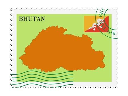 bhutan: mail naar  van Bhutan
