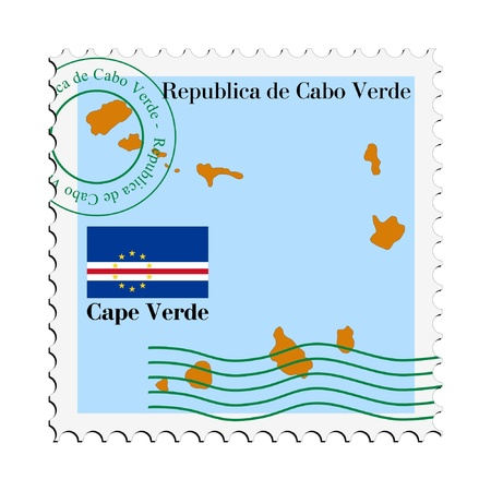 mail to/from Cape Verde Stock Vector - 11898506
