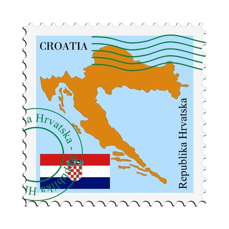 bandiera croazia: posta da  per la Croazia