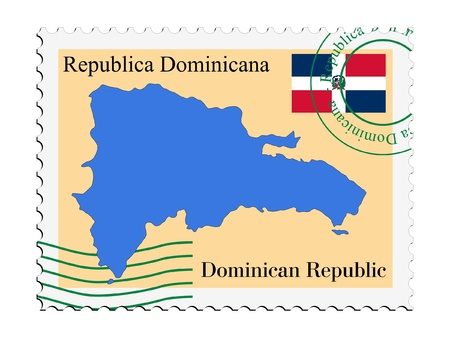 mail to/from Dominican Republic Stock Vector - 11899319