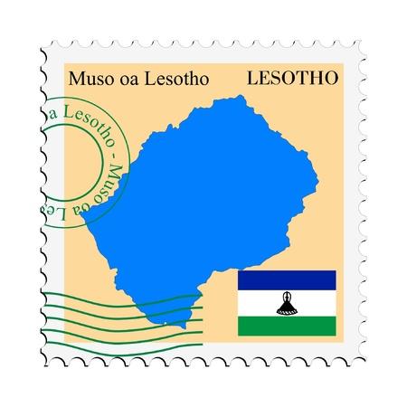 lesotho: mail tofrom Lesotho Illustration