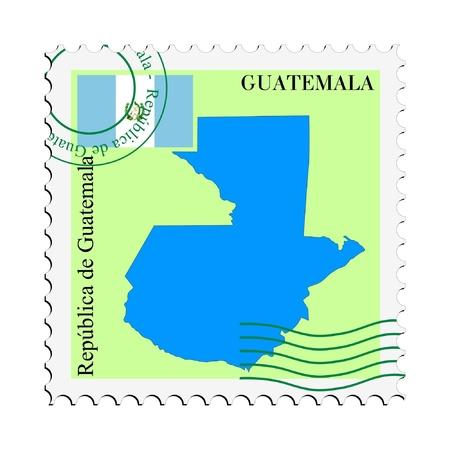 guatemala: mail tofrom Guatemala Illustration