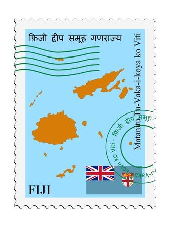 fiji: mail tofrom Fiji Illustration