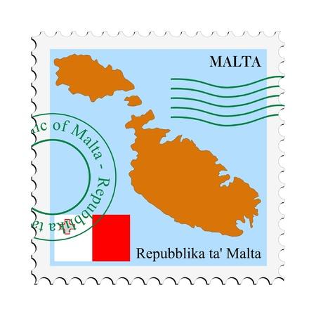 malta flag: mail tofrom Malta