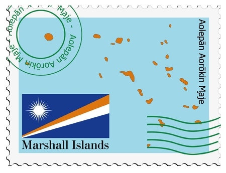 the marshal: mail tofrom Marshal islands Illustration