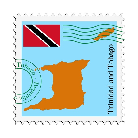 mail tofrom Trinidad and Tobago Vector