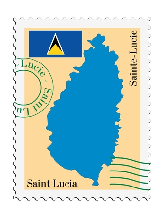 saint lucia: mail tofrom Saint Lucia Illustration