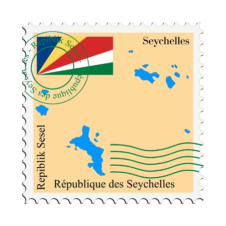 mail tofrom Seychelles Vector