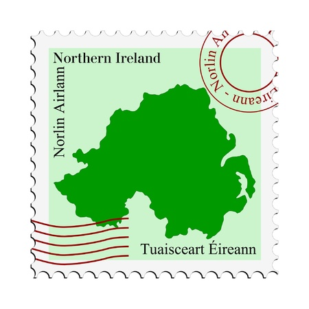 mail tofrom Northern Ireland Иллюстрация