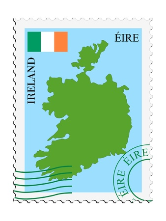 mail tofrom Ireland Vector