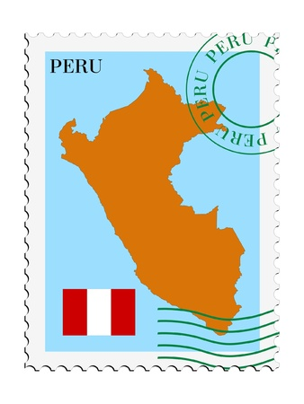 mail to/from Peru Stock Vector - 11899257