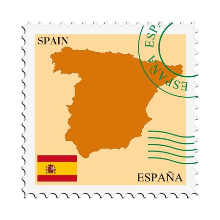mail tofrom Spain Vector