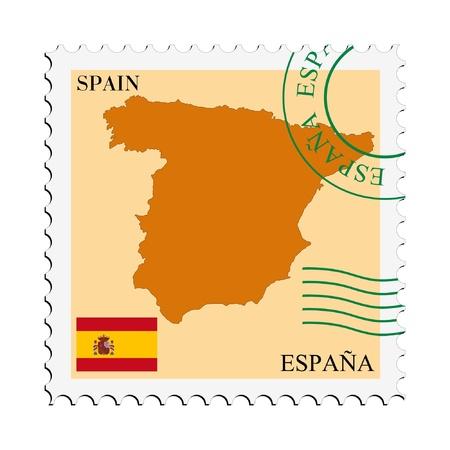 spain map: posta da  per la Spagna