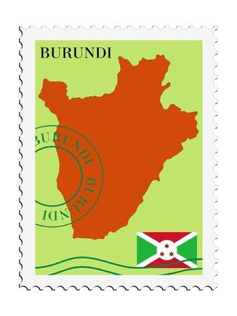 mail tofrom Burundi Vector