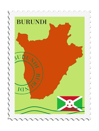 burundi: mail tofrom Burundi Illustration